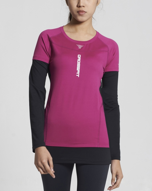 Crossfit Long Sleeve Tops (Purple)