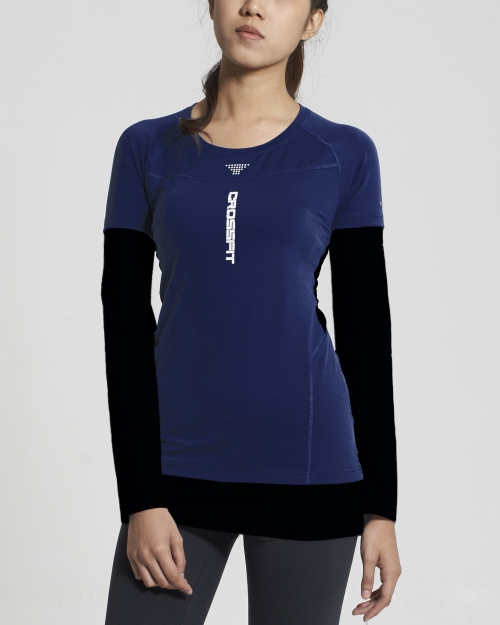 Crossfit Long Sleeve Tops (Blue)