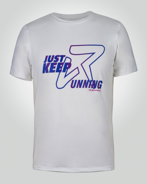 Men's Just-Keep-Running Shirt (White)