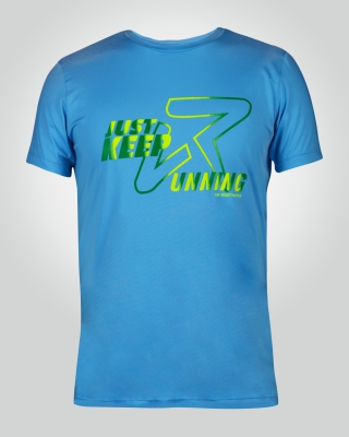 Men's Just-Keep-Running Shirt ( Light Blue)