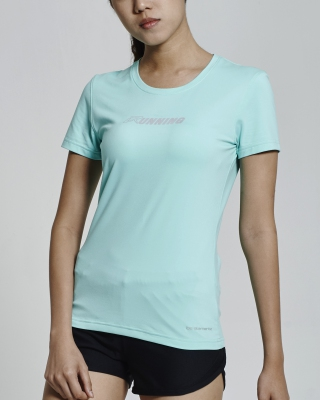 SuperDry-Fit Round Neck Running Shirt (Aqua Green)