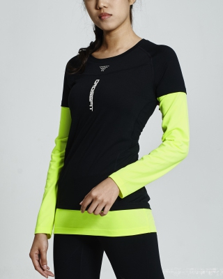 Crossfit Long Sleeve Tops (B/W)
