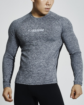 Ventilated Compression Long Sleeve Shirt (Black)